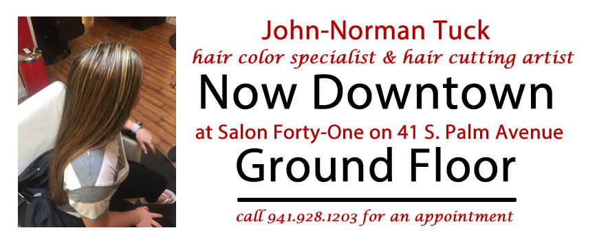 John-Norman Tuck, Sarasota hair color specialist and hair cutting artist now at Salon Forty-One